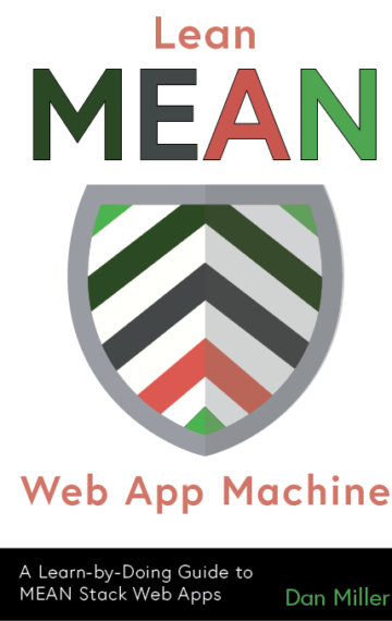 Book cover: Lean MEAN Web App Machine